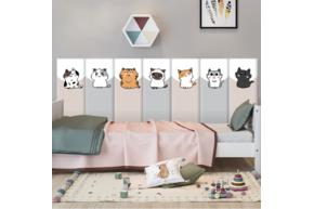 Мягкая 3D панель коллекция Funny Cats размер 50х20 см