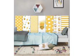 Мягкая 3D панель коллекция Happy Bee размер 50х20 см