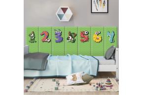 Мягкая 3D панель коллекция Monster Number размер 50х20 см