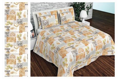 Комплект постельного белья Altex, бязь, размер евро арт. UXT-638-BROWN-ORIGINAL