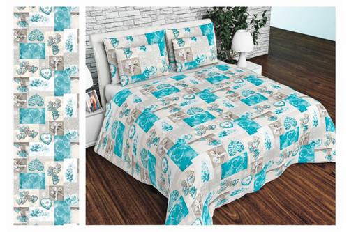 Комплект постельного белья Altex, бязь, размер евро арт. UXT-638-ORIGINAL-BLUE