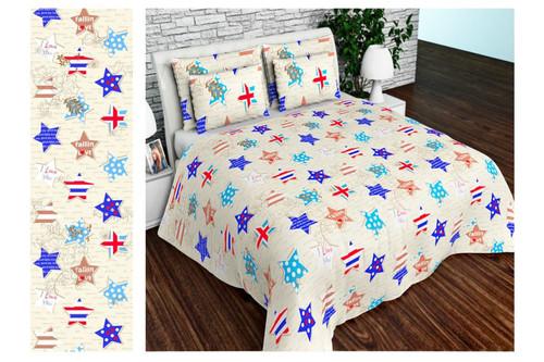 Комплект постельного белья Altex, бязь 100% хлопок, размер евро арт. UXT-647-Beige
