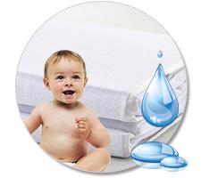 Наматрасники детские непромокаемые
