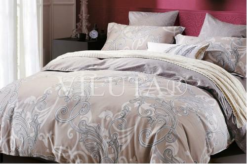Комплект постельного белья Viluta Ранфорс 12658, 100% хлопок, размер полуторный