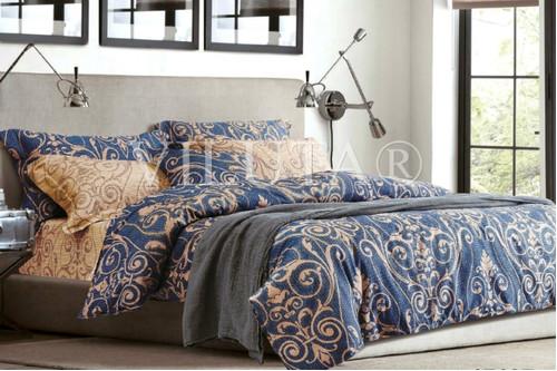 Комплект постельного белья Viluta Ранфорс 17107, 100% хлопок, размер полуторный