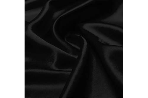 Креп-сатин (полиэстер) 50 м рулон арт. black