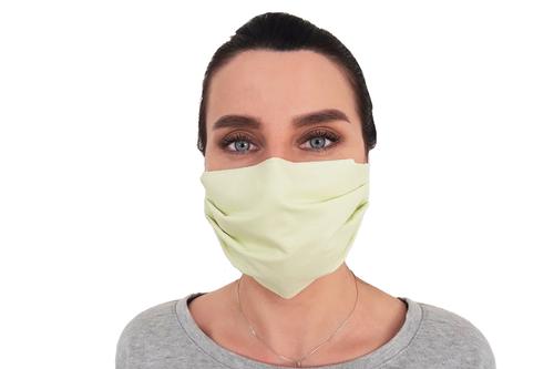Многоразовая защитная маска для лица зеленая