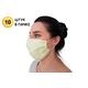 Многоразовая защитная маска для лица персиковая (упаковка 10 шт)
