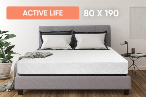 Беспружинный ортопедический матрас Point Art серия Active Life 80x190 см