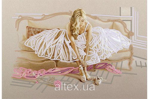 Набор для вышивки бисером POINT ART Нежность, размер 25х17 см, арт. 1454