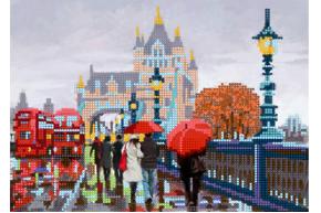 Набор для вышивки бисером POINT ART Город осенью, размер 25х18 см, арт. 1539