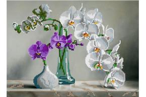 Набор для вышивки бисером Нежность орхидеи, размер 30х22 см, арт. 1653
