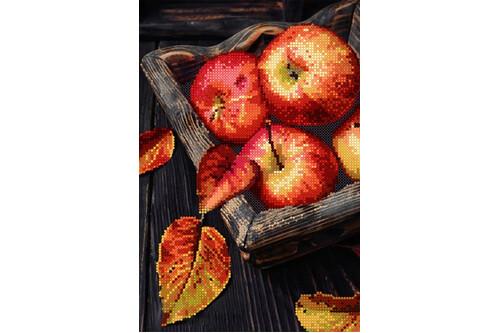 Набор для вышивки бисером POINT ART Красные яблоки размер 18х27 см арт. 1916