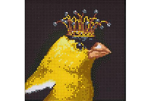 Набор для вышивки бисером POINT ART Желтая канарейка размер 15х15 см арт. 1976