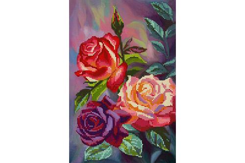 Набор для вышивки бисером POINT ART Шикарные розы размер 19х29 см арт. 1979