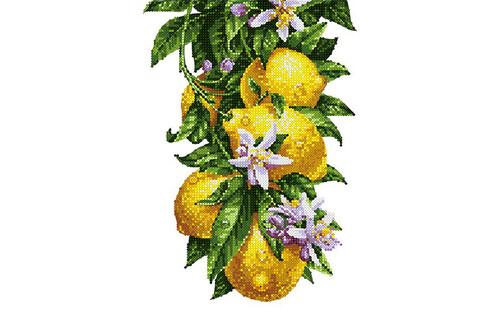 Набор для вышивки бисером POINT ART Цветущие лимончики размер 20х28 см арт. 1982
