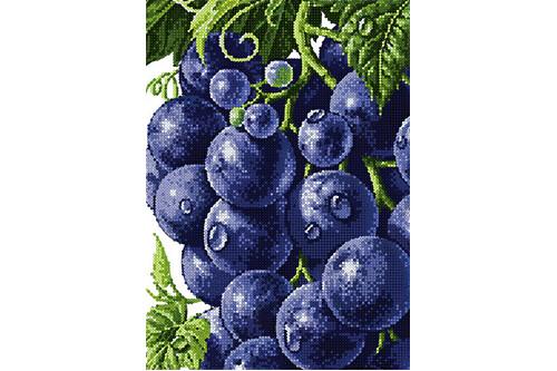 Набор для вышивки бисером POINT ART Десертный виноград размер 20х28 см арт. 1984