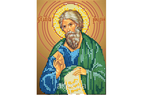 Схема для вышивки бисером POINT ART  Св. апостол Андрей, размер 11х15 см, арт. 1253