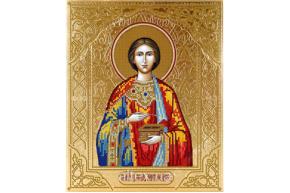 Схема для вышивки бисером POINT ART   Св. мученик Пантелеймон, размер 23х28 см, арт. 1309