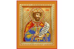 Схема для вышивки бисером POINT ART  Св. царь Давид, размер 20х24 см, арт. 1311