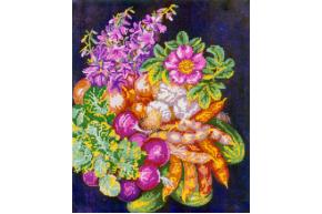 Схема для вышивки бисером POINT ART Овощной букет, размер 30х36 см, арт. 1434