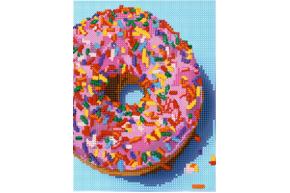 Схема для вышивки бисером POINT ART Ванильный пончик, размер 15х20 см, арт. 1676