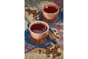 Набор для вышивки бисером POINT ART Ароматный кофе, размер 20х30 см, арт. 1688