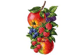 Схема для вышивки бисером POINT ART Садовые фрукты, размер 20х28 см, арт. 1824