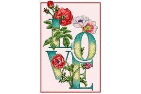 Схема для вышивки бисером POINT ART Love, размер 20х28 см, арт. 1866