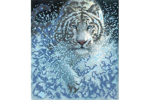 Набор для вышивки бисером POINT ART Тигр, размер 22х25 см, арт.  1409