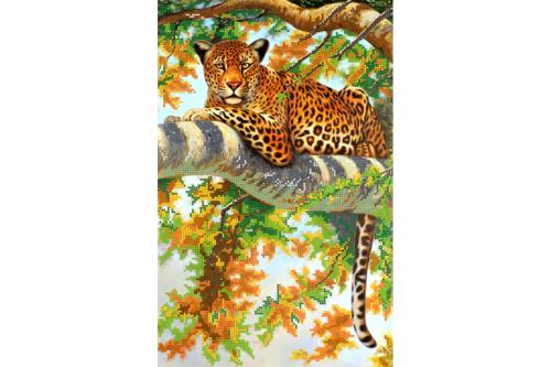 Набор для вышивки бисером POINT ART Дикая кошка, размер 25х39 см, арт.1412