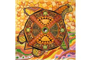 Набор для вышивки бисером POINT ART Черепаха, размер 20х20 см, арт. 1469