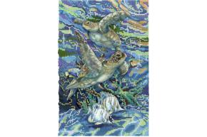 Схема для вышивки бисером POINT ART Подводный мир, размер 20х30 см, арт.1662