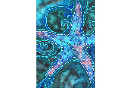 Схема для вышивки бисером POINT ART Морская звезда, размер 17х25 см, арт.1835