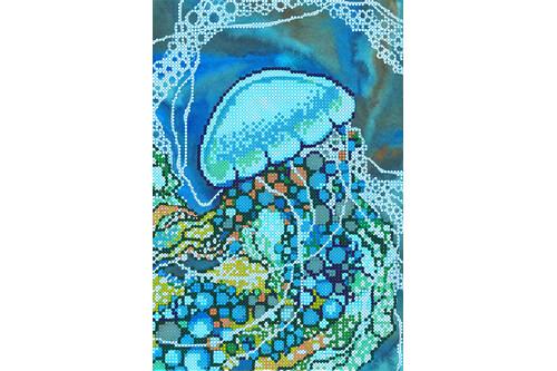 Схема для вышивки бисером POINT ART Медуза, размер 17х25 см, арт.1837