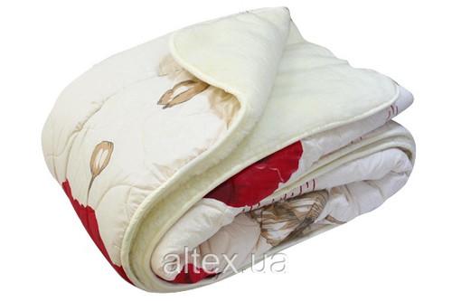 Одеяло меховое стеганое, N-4569 pink, размер 180х215 см, двуспальное