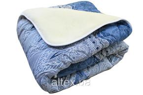 Одеяло меховое стеганое, размер 200х215 см, евро