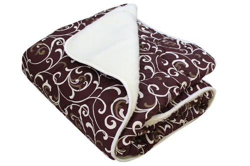 Одеяло меховое стеганое, N-4573, размер 180х215 см, двуспальное