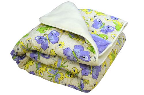 Одеяло меховое стеганое, N-45621, размер 180х215 см, двуспальное