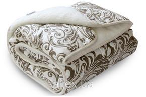 Одеяло меховое стеганое, размер 180х215 см, двуспальное