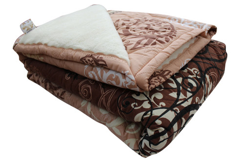 Одеяло меховое стеганое Мери, размер 200х215 см, евро