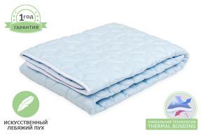 Одеяло пуховое (лебяжий пух) стеганое, размер 140x215 см, полуторный