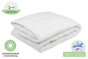 Одеяло силиконовое стеганое, размер 135x200 см, полуторный цвет белый