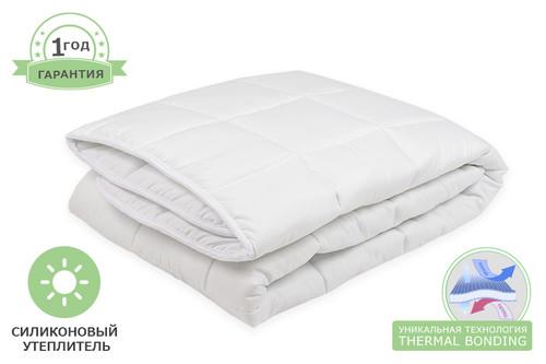 Одеяло силиконовое стеганое, размер 155x205 см, белое, зима+