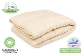 Одеяло силиконовое стеганое, размер 150x200 см, полуторный цвет бежевый