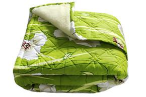 Одеяло меховое стеганое Сильвия, размер 200х215 см, евро