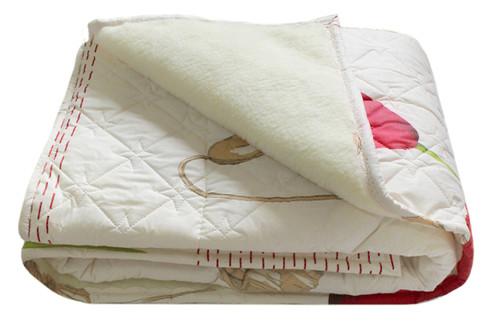Одеяло меховое стеганое, N-4569 pink, размер 200х215 см, евро