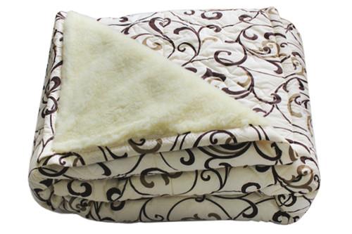 Одеяло меховое стеганое, размер 150х215 см, полуторное