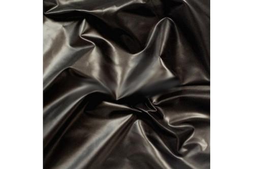 Плащевка Лаке черный рулон 50 м