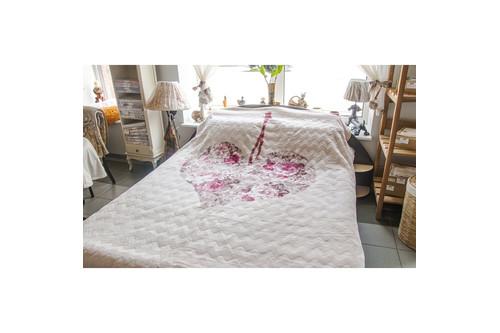 Плед Karaca Home - Love пудра жаккардовый 220x240 евро